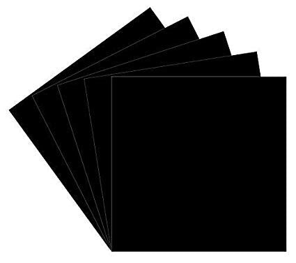 "Oracal GLOSS BLACK 12""X12"" Vinyl Sheet Scrapbooksrus"