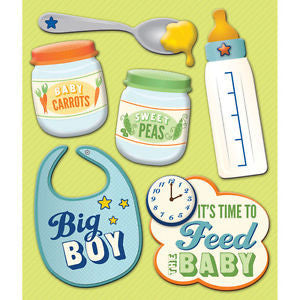 Life's Little Occasions LLO BABY BOY FOOD 3D Stickers - Scrapbook Kyandyland