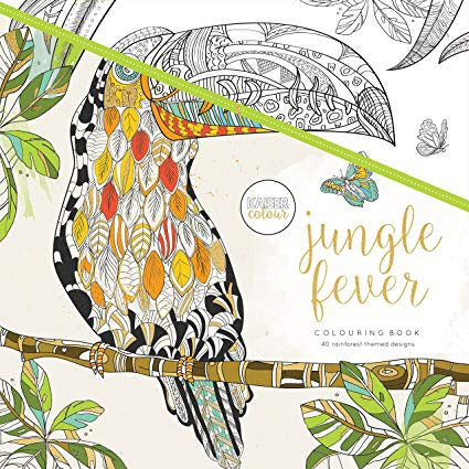 Kaisercraft JUNGLE FEVER Adult Coloring Book 40pc Scrapbooksrus