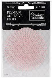 Couture Creations CORAL PEARL Premium Adhesive 424Pieces Scrapbooksrus