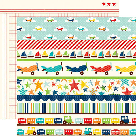 "Echo Park Little Boy BORDERS 12""X12"" Paper"