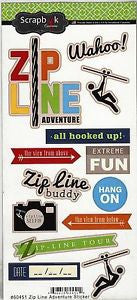 Scrapbook Custom ZIP LINE ADVENTURE Sticker 13pc - Scrapbook Kyandyland