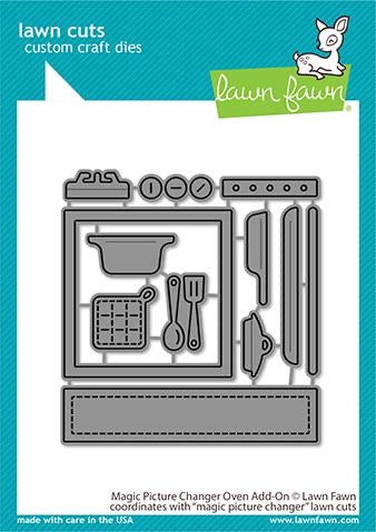 Lawn Fawn Lawn Cuts MAGIC PICTURE CHANGER OVEN ADD-ON Custom Craft Dies 12pc.