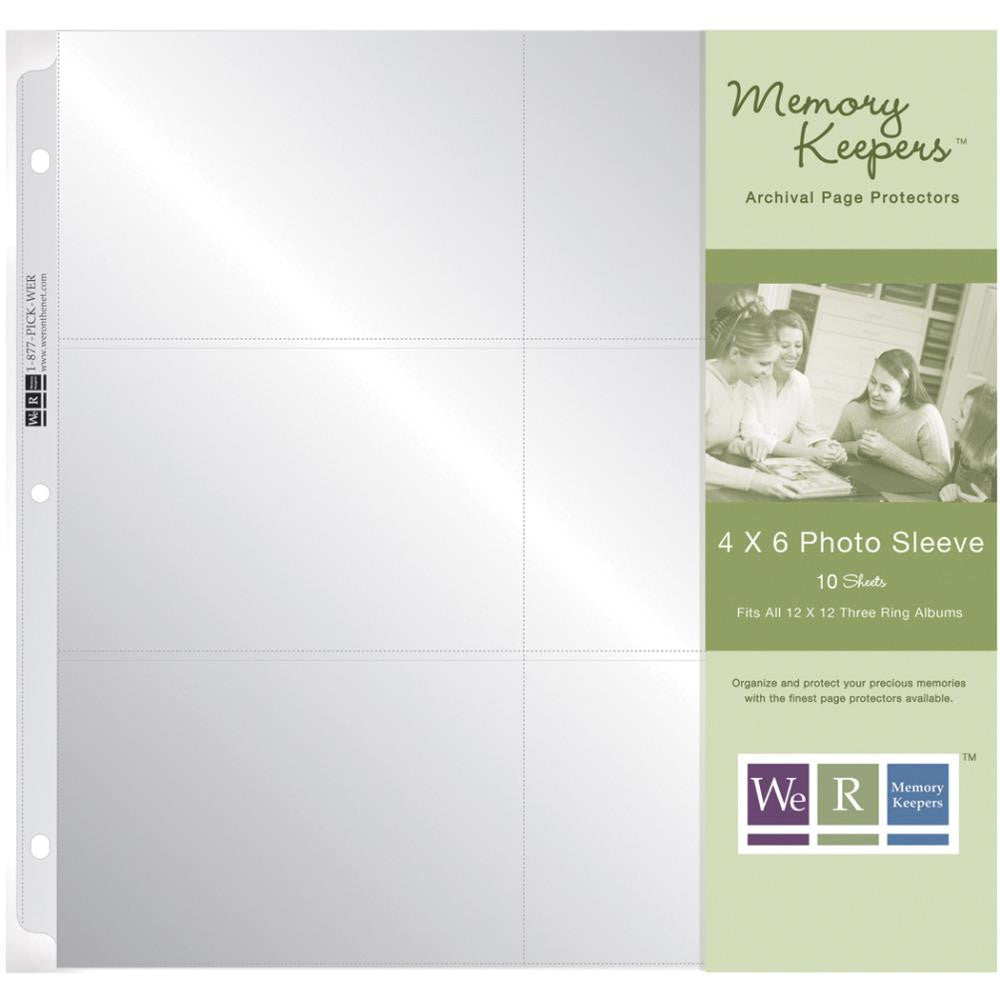 We R Memory Keepers 12x12 Ring Photo Sleeves 10pc Scrapbooksrus