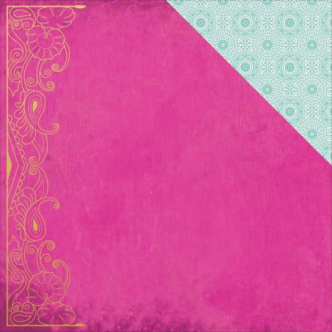 "Kaisercraft Bombay Sunset MUSIC 12""X12"" Scrapbook Sheet Scrapbooksrus"