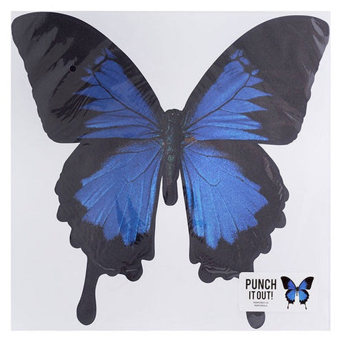 "American Crafts 12"" BUTTERFLY DieCut Blue"
