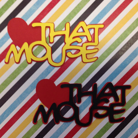 THAT MOUSE Disney Diecut 2pc