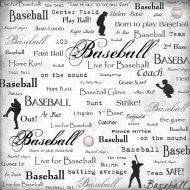 Baseball Scrapbook Customs LIVE FOR 12X12 Sports Sheet - Scrapbook Kyandyland