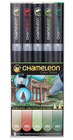 Chameleon Color Tones NATURE TONES Alcohol Markers Pens 5pc Scrapbooksrus