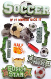 "Paper House SPORTS 3D Stickers 4.5""x 7"" - Scrapbook Kyandyland"