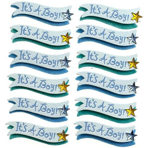 Ek Success Jolee's Boutique IT'S A BOY Stickers 12pc