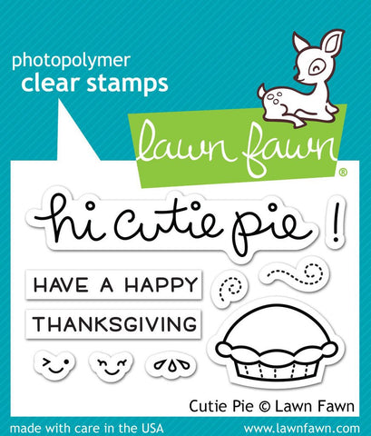 Lawn Fawn CUTIE PIE Clear Stamps 10 pc