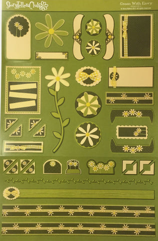 "StoryTellers GREEN WITH ENVY 12-1 13""X18"" DIECUT Scrapbooksrus"