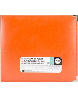 "WeRM ORANGE SODA  12""X12"" Classic Leather 3 Ring Album"