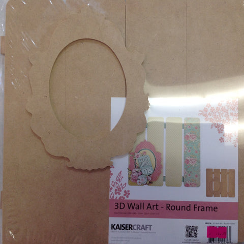 Kaisercraft Beyond The Page ROUND FRAME 3D Wood Wall Art 2pc - Scrapbook Kyandyland