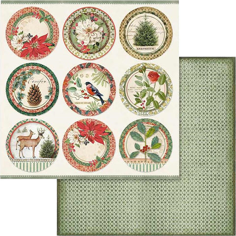 "Stamperia Winter Botanical SPHERES SBB575 12""X12"" Scrapbook Paper Scrapbooksrus"