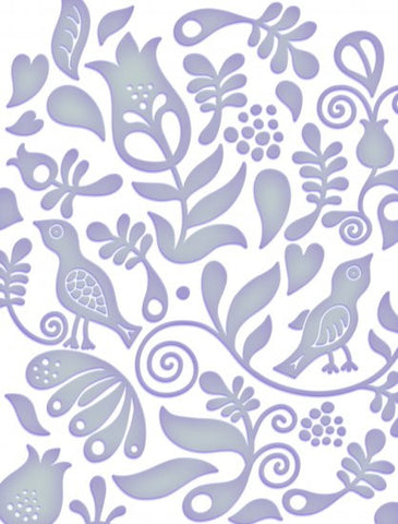 "Couture Creations Embossing Folder Fresh Fun FLINT 5""X7"" - Scrapbook Kyandyland"