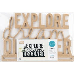 Kaisercraft EXPLORE DREAM DISCOVER Wall Art 3D Wood DIY 2 pc
