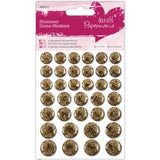 Docrafts Papermania SHIMMER DOME Bling Stickers 36pc - Scrapbook Kyandyland