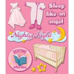 Life's Little Occasions LLO BABY GIRL BEDTIME 3D Stickers - Scrapbook Kyandyland