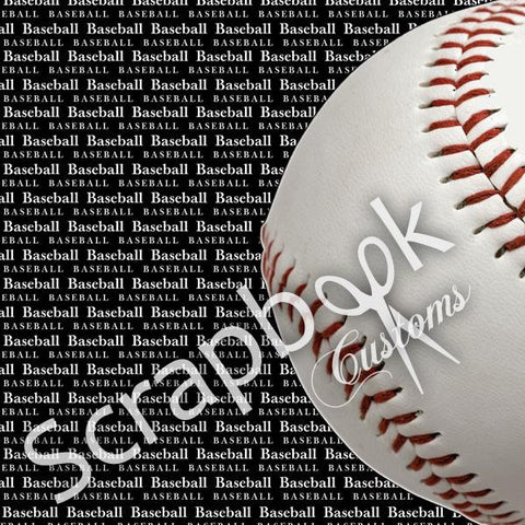 BASEBALL Scrapbook Customs GO BIG LEFT 12X12 Sports Sheet - Scrapbook Kyandyland
