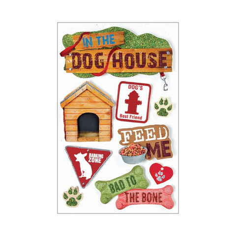 Paper House IN THE DOG HOUSE 3D Stickers - Scrapbook Kyandyland