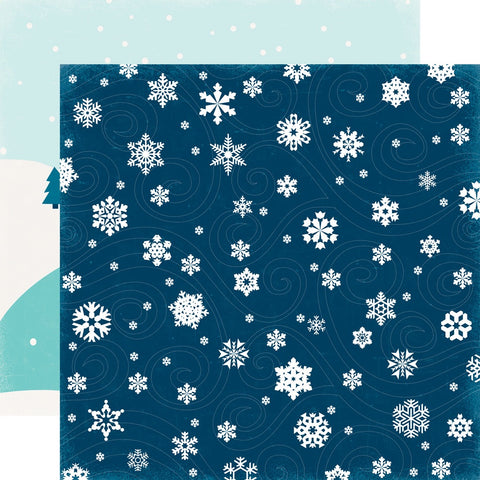 "Echo Park Hello Winter FRIGID BLIZZARD 12""x12"" Scrapbook Paper Scrapbooksrus"