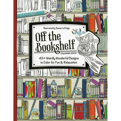 "C&T OFF THE BOOKSHELF Adult Coloring Book 48pg 9""X 11"" - Scrapbook Kyandyland"
