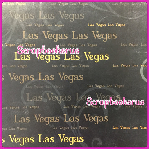 "Old Antique Words LAS VEGAS GOLD 12""X12"" Custom Travel Paper Sheet"