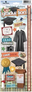 Paper House MY GRADUATION Cardstock Stickers 20 pc Scrapbooksrus