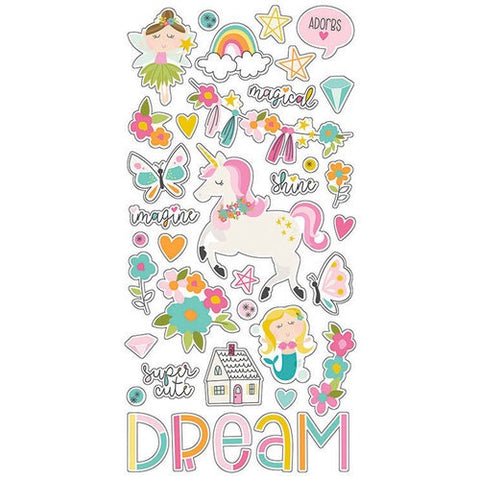 Simple Stories DREAM BIG Chipboard Stickers 37pc Scrapbooksrus
