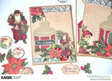"Kaisercraft Letters To Santa HOLLY & BERRIES 12""X12"" Scrapbook Sheet Scrapbooksrus"