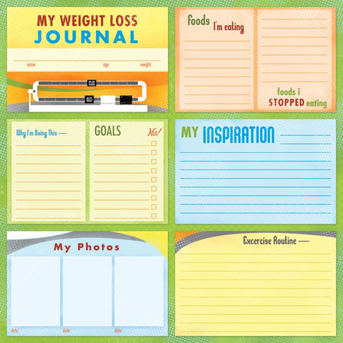 Karen Foster WEIGHT LOSS JOURNAL 12X12 Sports Sheet - Scrapbook Kyandyland