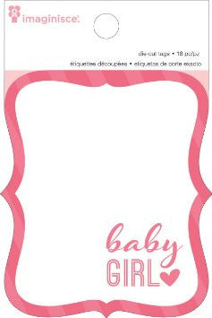 Imaginisce BABY GIRL Diecut Tags 18pc - Scrapbook Kyandyland