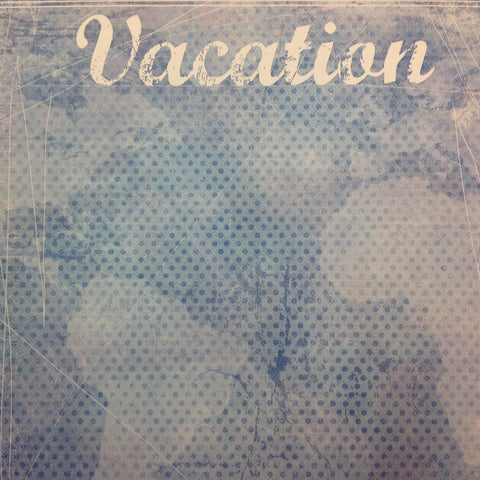 "Scrapbook Customs VACATION SCRATCHY BLUE 12""X12"" Paper - Scrapbook Kyandyland"