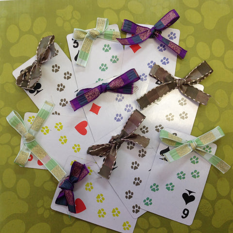 "ALL ABOUT PAWS Pet Tag with Ribbon 2""x4"" - Scrapbook Kyandyland"