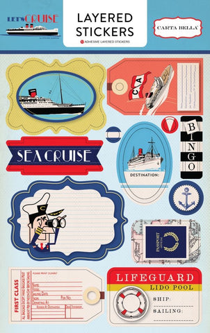 Carta Bella Let's Cruise Layered Sticker