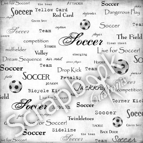 Scrapbook Customs SOCCER LIVE FOR 1 Sports Sheet - Scrapbook Kyandyland