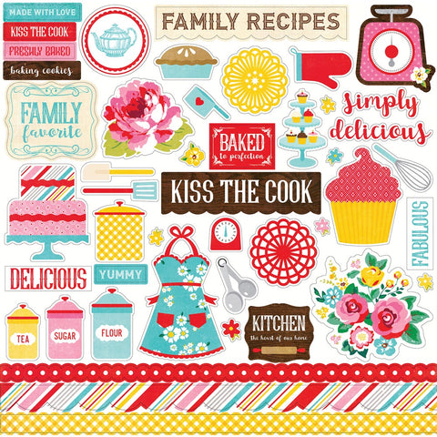 Echo Park Happiness is Homemade ELEMENT STICKERS 12x12 45pc Scrapbooksrus