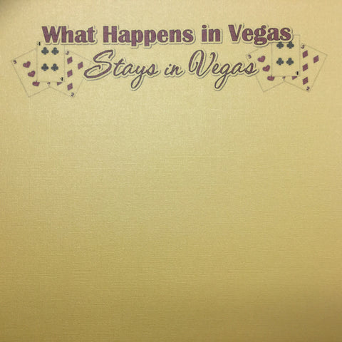 What Happens In Vegas 12x12 Scrapbook Bling Paper