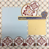 Page Kit (2) 12x12 Scrapbook HAPPINESS Scrapbooksrus