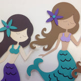 "Custom Large 12"" MERMAID Birthday Party Decoration - Scrapbook Kyandyland"