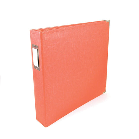 We R Classic Leather Album CORAL D Ring Scrapbook Scrapbooksrus