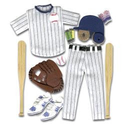 Jolee's Boutique BASEBALL OUTFIT Dimensional Stickers 12pc - Scrapbook Kyandyland
