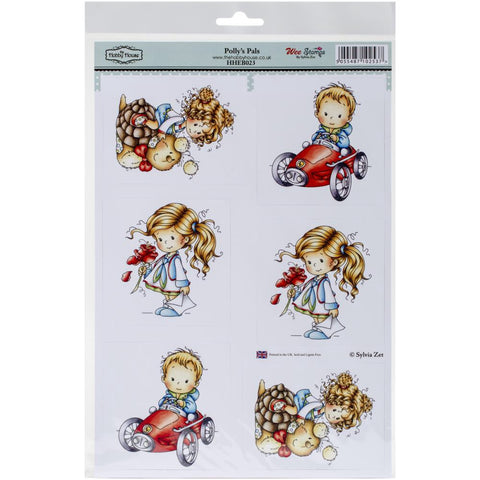 "HobbyHouse POLLY'S PALS Wee StampsTopperSheet 8.3""X12.2"" - Scrapbook Kyandyland"