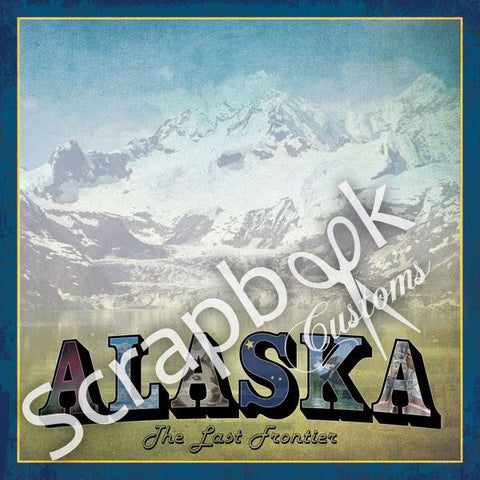 "ALASKA VINTAGE 12""X12"" Scrapbook Customs Paper Scrapbooksrus"