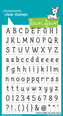 Lawn Fawn CLAIRE'S ABC's Clear Stamps Alphabet Scrapbooksrus