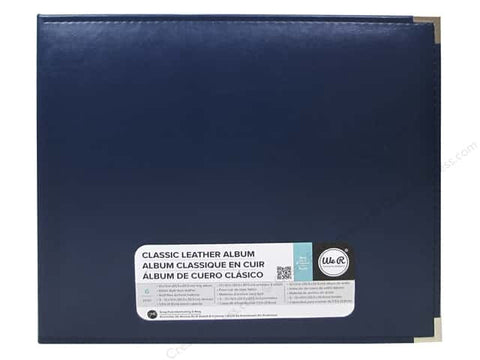 "WeRM NAVY 12""X12"" Classic Leather 3 Ring Scrapbook Album"
