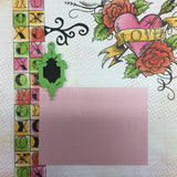 Premade LOVE STRUCK (2) 12X12 Scrapbook Pages Scrapbooksrus