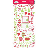 Doodlebug Icons JOLLY HOLLY DAYS Cardstock Sticker Sheet